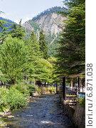 Купить «Горная река Боржомка. Боржоми. Грузия», фото № 6871038, снято 6 июля 2013 г. (c) Евгений Ткачёв / Фотобанк Лори