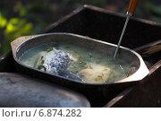 """Купить «Рыбный суп """"Уха""""», фото № 6874282, снято 13 сентября 2014 г. (c) Йомка / Фотобанк Лори"""