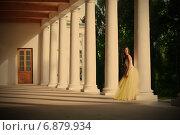 Купить «Очаровательная невеста среди колоннады», фото № 6879934, снято 3 июля 2008 г. (c) Astroid / Фотобанк Лори