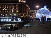 Новогодняя вечерняя Москва, фото № 6882394, снято 25 декабря 2014 г. (c) Татьяна Белова / Фотобанк Лори