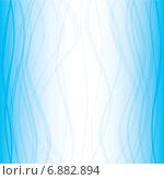 Купить «Голубой градиентный фон с плавными волнистыми линиями», иллюстрация № 6882894 (c) Типляшина Евгения / Фотобанк Лори