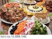 Купить «Блюда на праздничном столе», фото № 6888146, снято 31 декабря 2014 г. (c) Айнур Шауэрман / Фотобанк Лори