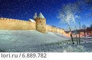 Купить «Митрополичья башня, Великий Новгород», фото № 6889782, снято 20 марта 2019 г. (c) Зезелина Марина / Фотобанк Лори