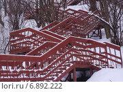 Деревянная лестница. Стоковое фото, фотограф Сергей Кочевых / Фотобанк Лори
