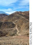 Купить «Тропинка в безжизненных Синайских горах», фото № 6892702, снято 22 ноября 2013 г. (c) Ольга Коцюба / Фотобанк Лори