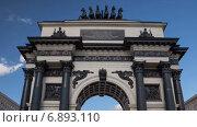 Купить «Триумфальная арка в Москве, таймлапс», видеоролик № 6893110, снято 1 января 2015 г. (c) Кирилл Трифонов / Фотобанк Лори