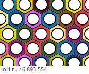 Разноцветные гайки, фон. Стоковая иллюстрация, иллюстратор Андрей Семин / Фотобанк Лори