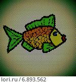 Купить «Декоративная рыбка - мозаика», иллюстрация № 6893562 (c) Astronira / Фотобанк Лори