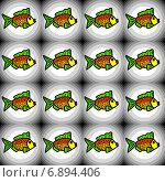 Купить «Бесшовный узор с рыбками», иллюстрация № 6894406 (c) Astronira / Фотобанк Лори