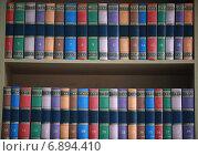 Книги на книжных полках. Стоковое фото, фотограф Ivanikova Tatyana / Фотобанк Лори