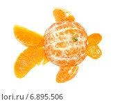 Купить «Золотая рыбка из апельсина», фото № 6895506, снято 14 января 2015 г. (c) Стефания Домогацкая / Фотобанк Лори