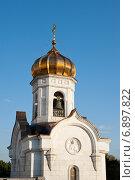 Купить «Колокольня возле храма Христа Спасителя. Москва», фото № 6897822, снято 7 сентября 2014 г. (c) Татьяна Кахилл / Фотобанк Лори