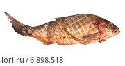 Купить «Копченый толстолобик изолировано на белом фоне», фото № 6898518, снято 5 ноября 2013 г. (c) Олег Хархан / Фотобанк Лори