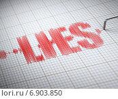 Купить «Concept of lies. Lie detector with text.», фото № 6903850, снято 15 октября 2019 г. (c) Maksym Yemelyanov / Фотобанк Лори
