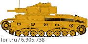 Немецкий боевой танк. Стоковая иллюстрация, иллюстратор Dmitry Polnikov / Фотобанк Лори