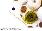 Швейные принадлежности. Стоковое фото, фотограф Дмитрий Бодяев / Фотобанк Лори