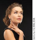 Купить «woman with diamond earrings», фото № 6906934, снято 17 марта 2013 г. (c) Syda Productions / Фотобанк Лори