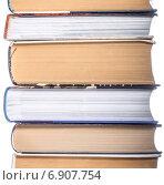 Купить «Стопка книг крупно», фото № 6907754, снято 18 января 2015 г. (c) Владимир Агапов / Фотобанк Лори