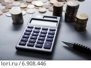 Купить «Калькулятор и российские рубли», фото № 6908446, снято 19 января 2015 г. (c) Александр Калугин / Фотобанк Лори