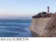 Геленджикский маяк во время норд-оста (2014 год). Стоковое фото, фотограф Алексей Шматков / Фотобанк Лори