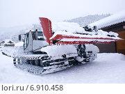 Купить «Ратрак, машина для подготовки горнолыжных трасс», фото № 6910458, снято 7 января 2015 г. (c) Харитонов Сергей / Фотобанк Лори