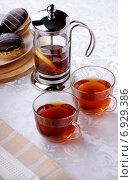 Горячий чай. Стоковое фото, фотограф Андрей Оршак / Фотобанк Лори