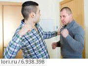 Купить «Two adult males having fight», фото № 6938398, снято 23 апреля 2018 г. (c) Яков Филимонов / Фотобанк Лори