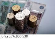 Купить «Российские рубли», фото № 6950538, снято 31 января 2015 г. (c) Александр Калугин / Фотобанк Лори