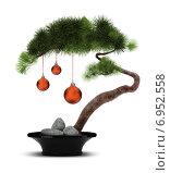 Купить «Новогодний бонсай», иллюстрация № 6952558 (c) Anatoly Maslennikov / Фотобанк Лори