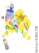Парфюмерия и косметика. Стоковая иллюстрация, иллюстратор Мария Румянцева / Фотобанк Лори
