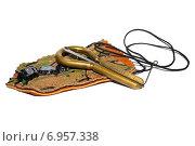 Музыкальный инструмент варган на белом фоне. Стоковое фото, фотограф Дмитрий Шанько / Фотобанк Лори