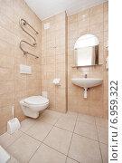 Купить «Интерьер ванной в гостинице», фото № 6959322, снято 13 января 2015 г. (c) Darja Vorontsova / Фотобанк Лори