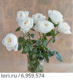 Белые розы. Стоковое фото, фотограф Ириша Карбышева / Фотобанк Лори