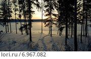 Река Шалашная зимой, Пермский край. Стоковое фото, фотограф Алексей Беляев / Фотобанк Лори
