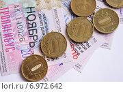 Монеты и проездной билет (2015 год). Редакционное фото, фотограф Sergey  Ivanov / Фотобанк Лори