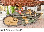 Купить «Французский легкий танк Рено FT-17 в Музее Войска Польского в Варшаве, Польша», фото № 6974634, снято 20 октября 2014 г. (c) Иван Марчук / Фотобанк Лори