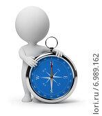 Купить «3d человек с компасом», иллюстрация № 6989162 (c) Anatoly Maslennikov / Фотобанк Лори