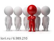 Купить «Фигурки людей, концепция лидерства», иллюстрация № 6989210 (c) Anatoly Maslennikov / Фотобанк Лори