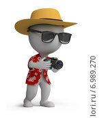 Купить «3d человечки - турист с фотоаппаратом», иллюстрация № 6989270 (c) Anatoly Maslennikov / Фотобанк Лори