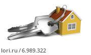Купить «Ключи с брелоком в виде домика», иллюстрация № 6989322 (c) Anatoly Maslennikov / Фотобанк Лори