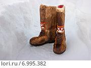 Старинная обувь народов Севера - пимы. Стоковое фото, фотограф Светлана Чуркина / Фотобанк Лори