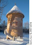 Купить «Пиль-башня зимним днем. Павловск», фото № 6997874, снято 9 февраля 2015 г. (c) Виктор Карасев / Фотобанк Лори
