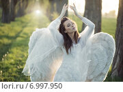 Купить «Wonderful angel dancing in the forest», фото № 6997950, снято 29 апреля 2014 г. (c) Ingram Publishing / Фотобанк Лори