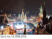 Купить «Красная площадь и каток», фото № 6998810, снято 28 февраля 2012 г. (c) Георгий Султанов / Фотобанк Лори