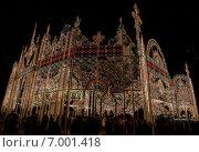 Luminarie - фестиваль света в Кобе (преф. Хиого, Япония) проводится ежегодно в память о жертвах землетрясения 1995 года (2013 год). Редакционное фото, фотограф Алексей Копытько / Фотобанк Лори