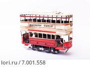 Модель двухэтажного трамвая. Стоковое фото, фотограф Альберт Васильев / Фотобанк Лори