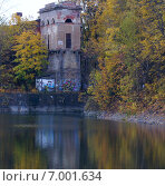 Озеро и башня, Кронштадт. Стоковое фото, фотограф Наталья Большакова / Фотобанк Лори