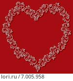 Купить «Сердце на красном фоне», иллюстрация № 7005958 (c) Татьяна Гришина / Фотобанк Лори