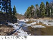 Ледоход. Река Шишим. Стоковое фото, фотограф М. Гимадиев / Фотобанк Лори