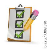 Купить «Чек-лист и карандаш», иллюстрация № 7008390 (c) Anatoly Maslennikov / Фотобанк Лори